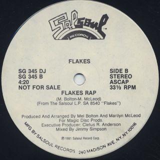 Flakes / Take It To The Max c/w Flakes Rap label