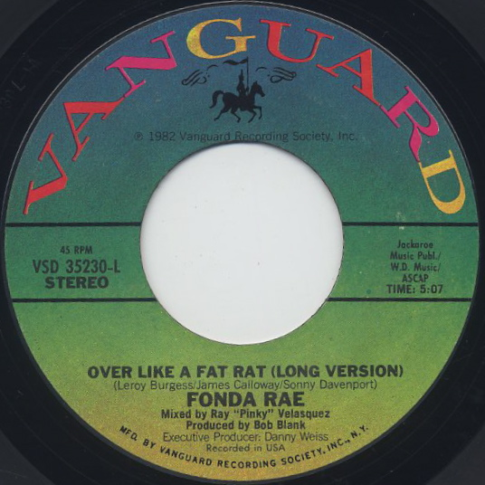 Fonda Rae / Over Like A Fat Rat (45) front