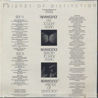 Friends Of Distinction / Reviviscence Live To Light back