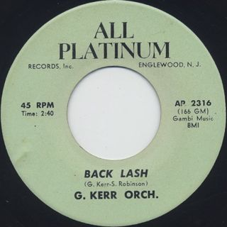 George Kerr Orch. / Back Lash