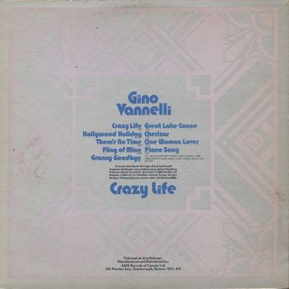 Gino Vannelli / Crazy Life back