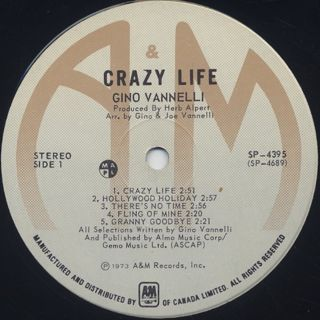 Gino Vannelli / Crazy Life label