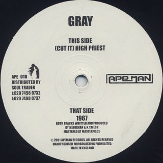 Gray / 1967 / (Cut It) High Priest back