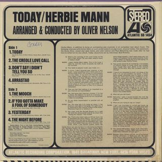 Herbie Mann / Today! back