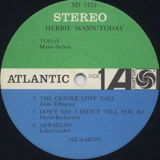 Herbie Mann / Today! label