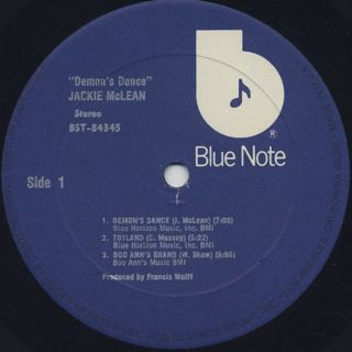 Jackie Mclean / Demon's Dance label