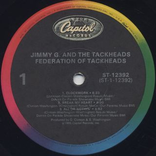 Jimmy G. And The Tackheads / The Federation Of Tackheads label