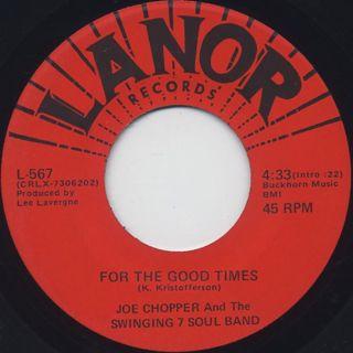 Joe Chopper & The Swing 7 Soul Band / Soul Pusher back