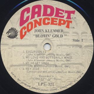 John Klemmer / Blowin' Gold label