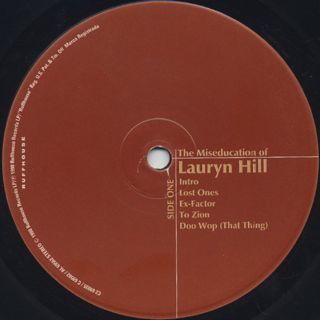Lauryn Hill / The Miseducation Of Lauryn Hill label