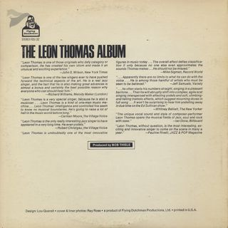 Leon Thomas / Album back