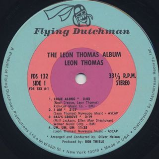 Leon Thomas / Album label