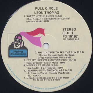 Leon Thomas / Full Circle label