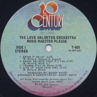 Love Unlimited Orchestra / Music Maestro Please label