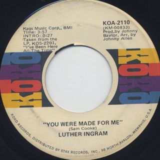 Luther Ingram / You Were Made For Me c/w Missing You