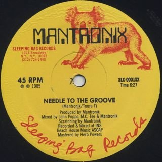 Mantronix / Needle To The Groove label
