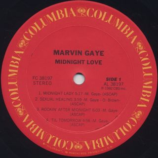 Marvin Gaye / Midnight Love label