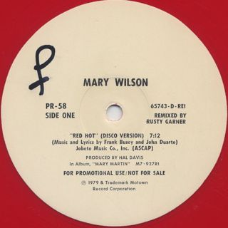 Mary Wilson / Red Hot back
