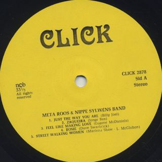 Meta Roos & Nippe Sylwens Band / S.T. label