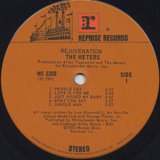 Meters / Rejuvenation label