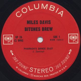 Miles Davis / Bitches Brew label