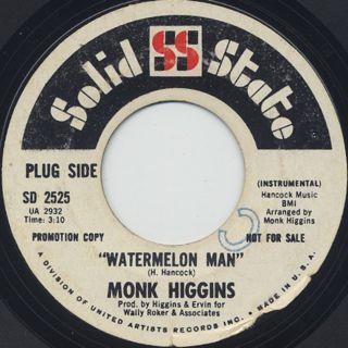 Monk Higgins / Extra Soul Perception c/w Watermelon Man back