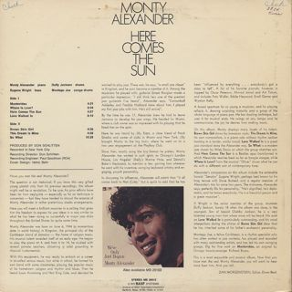 Monty Alexander / Here Comes The Sun back