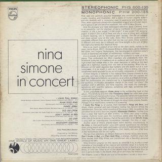 Nina Simone / In Concert back