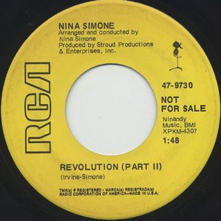 Nina Simone / Revolution back