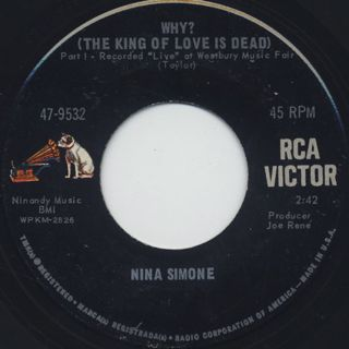 Nina Simone / Why?(The King Of Love Is Dead)