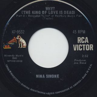Nina Simone / Why?(The King Of Love Is Dead) back