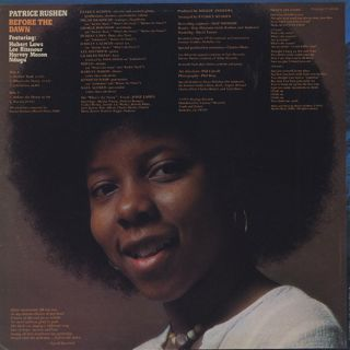 Patrice Rushen / Before The Dawn back