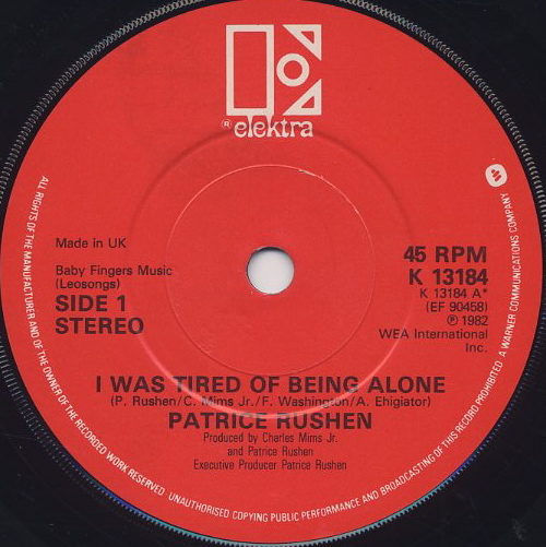 Patrice Rushen / I Was Tired Of Being Alone (45) label