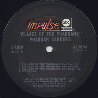 Pharoah Sanders / Village Of The Pharoahs label