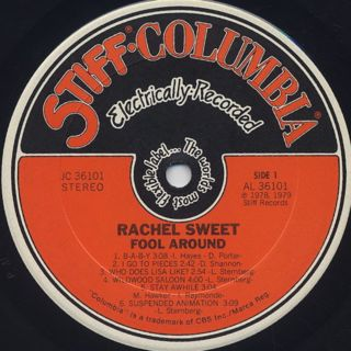 Rachel Sweet / Fool Around label