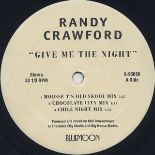 Randy Crawford / Give Me The Night label