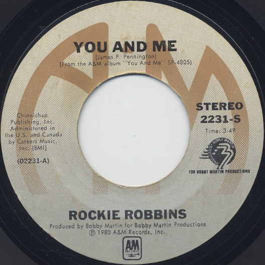 Rockie Robbins / You And Me c/w Together front