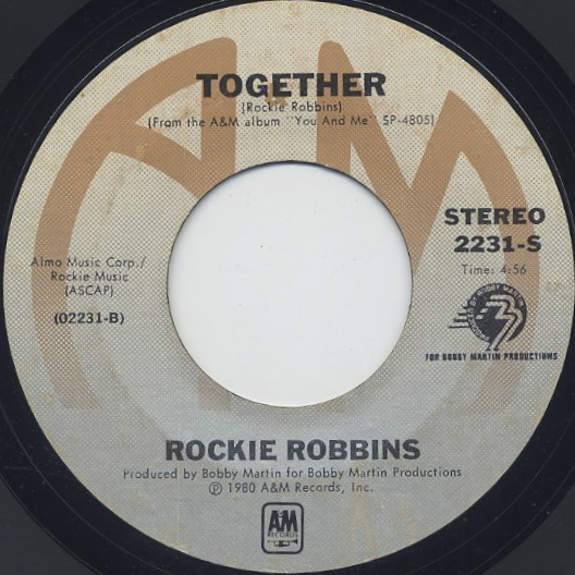 Rockie Robbins / You And Me c/w Together back