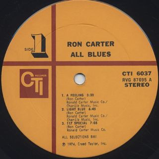 Ron Carter / All Blues label