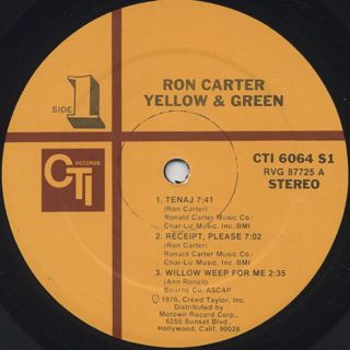 Ron Carter / Yellow & Green label