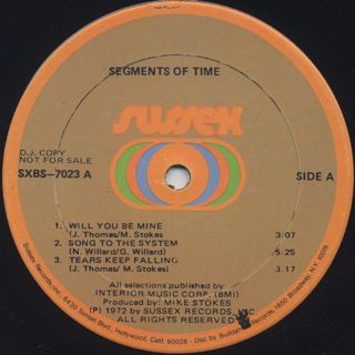 Segments Of Time / S.T. label