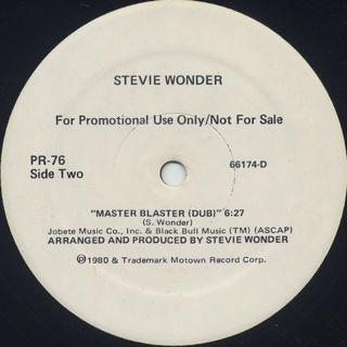 Stevie Wonder / Master Blaster (12