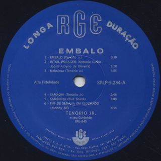 Tenorio Jr. / Embalo label