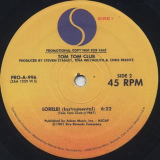 Tom Tom Club / Genius Of Love back