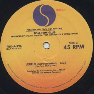 Tom Tom Club / Genius Of Love label