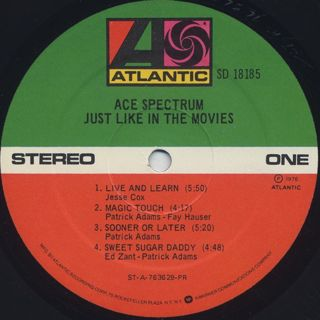 Ace Spectrum / Just Like In The Movies label