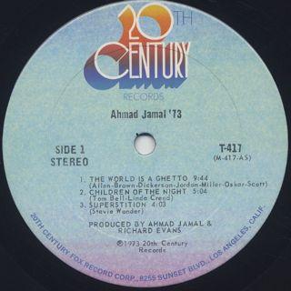 Ahmad Jamal / '73 label