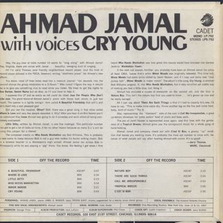 Ahmad Jamal / Cry Young back