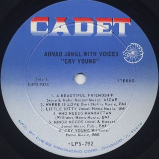 Ahmad Jamal / Cry Young label