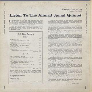 Ahmad Jamal / Listen back